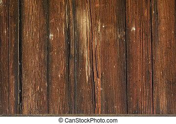 壁, 木, 外気に当って変化した, 背景