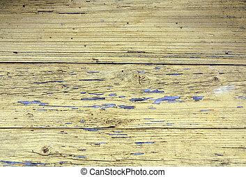 壁, 木, 外気に当って変化した, 黄色, texture.
