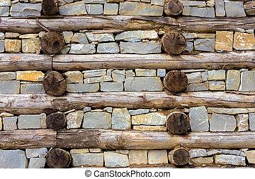 壁, 木, 岩