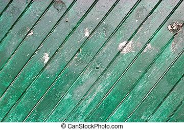 壁, 木, 緑