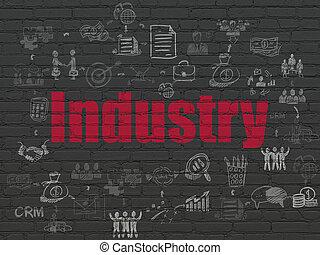 壁, 産業, concept:, 背景, ビジネス