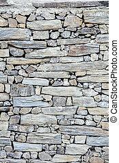 壁, 石のきめ