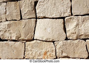 壁, 石のブロック, 中世
