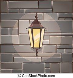 壁, 石のランタン