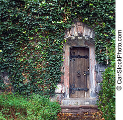 壁, 石, ドア