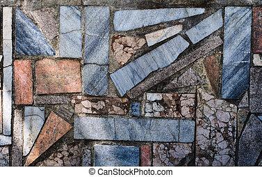 壁, 石, モザイク