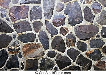 壁, 石, モザイク, 背景