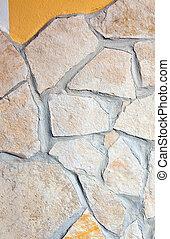 壁, 石, 内側を覆われた, 斑岩