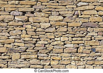 壁, 石, 古い, 背景, 手ざわり