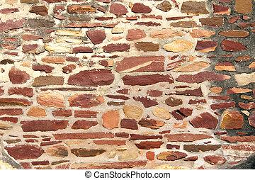 壁, 石, 古代, ブロック