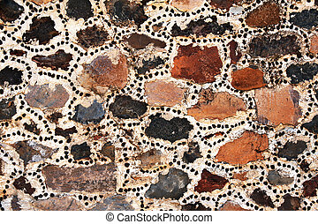 壁, 石, 古代, ブロック, メキシコ\