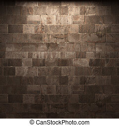壁, 石, 照らされた