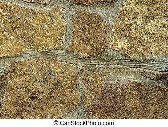 壁, 石, 黄色, グランジ, 型, 古い, 手ざわり, 背景