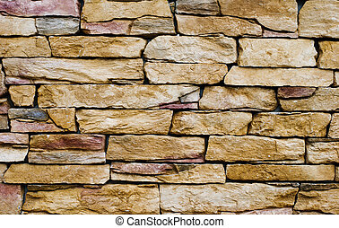 壁, 石, 黄色
