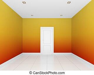 壁, 空 部屋, カラフルである
