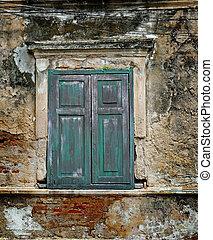 壁, 窓, 古い
