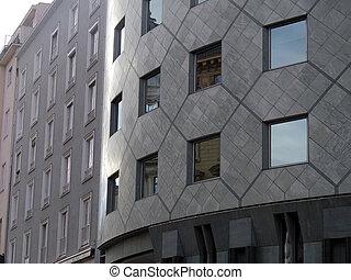 壁, 窓, 建築家, 現代, カーブ