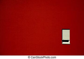 壁, 窓, 白い赤