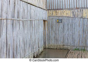 壁, 竹, 古い, 背景, 手ざわり