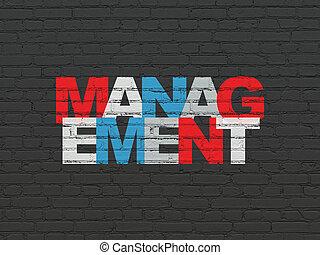 壁, 管理, concept:, 金融, 背景