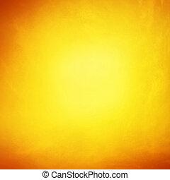 壁, 背景, グランジ, 黄色, 手ざわり