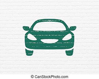 壁, 自動車, 観光事業, concept:, 背景