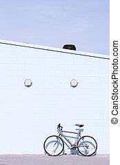壁, 自転車, よく晴れた日