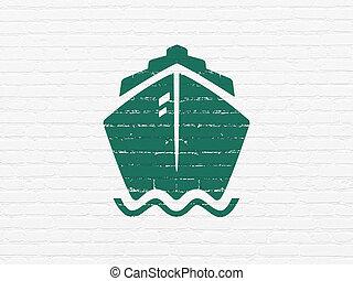 壁, 船, concept:, 休暇, 背景