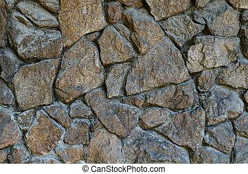 壁, 荒い, 石, 背景