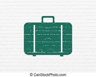 壁, 袋, 観光事業, concept:, 背景