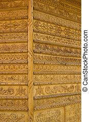 壁, 装飾用, 彫刻, bucovina, 修道院