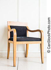 壁, 装飾, 椅子, 白, 家具