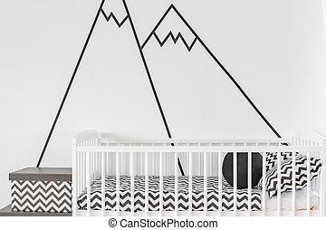 壁, 装飾, 部屋, 赤ん坊