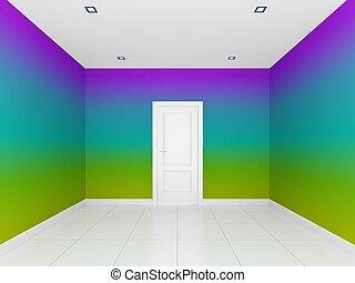 壁, 部屋, 空, カラフルである