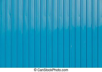 壁, 金属, 鋼鉄, 青, シート