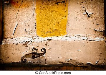 壁, 錆ついた, グランジ, 鎖