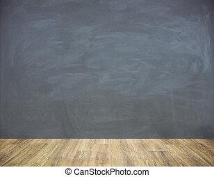壁, 黒板, 内部, 空