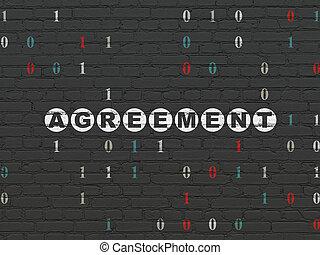 壁, concept:, 金融, 背景, 合意