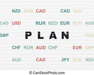 壁, concept:, 金融, 背景, 計画