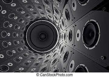 壁, speakers.