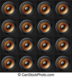 壁, speakers., pattern., seamless