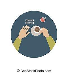 壊れなさい, コーヒー, アイコン