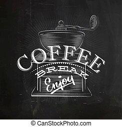 壊れなさい, ポスター, コーヒー