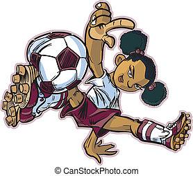 壊れなさい, 女の子, サッカー, アフリカ, ダンス