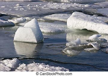 壊れる, 氷