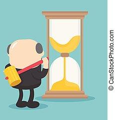 壊れる, 考え, 上司, 時間, ビジネスマン, 砂時計