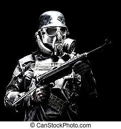 士兵, 纳粹, 射击, 工作室, 未来