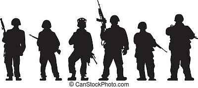 士兵, 黑色半面畫像