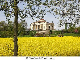 壮麗, palladian, 別荘, 呼ばれる, la, rotonda, 中に, 新古典主義, スタイル, 都市で,...