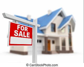売り物のハウス, 印